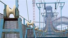 大岳高速洞庭湖大桥开始架设主缆
