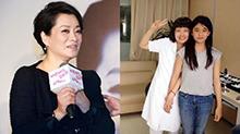53岁富太毛阿敏近照 一双儿女曝光颜值太高