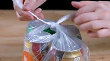 【微在涨姿势】10秒攻克打不开的塑料袋死结