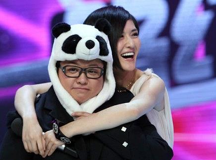 韩红秒变萌萌哒熊猫 超可爱