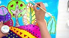 5068网儿童画第33期:山岗上的树