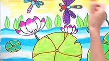 5068网儿童画第43期:夏天的荷花池