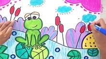 5068网儿童画第45期:河边的青蛙