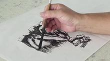 5068网国画课程第23期:山石树木结合 山石勾线皴擦