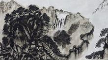 5068网国画课程第26期:山石树林结合 点染成画