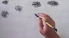 5068网国画课程第27期:松针画法