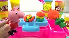 【<B>小猪</B><B>佩奇</B>玩具秀】<B>小猪</B><B>佩奇</B>培乐多烧烤制作烤串