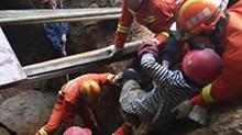 湘西吉首:工地塌方民工被困 紧急救援化险为夷
