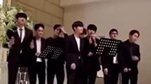 <B>EXO</B>献唱经纪人的婚礼 新娘上辈子一定是拯救了宇宙