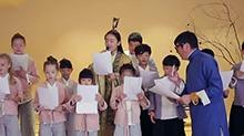 <B>孙楠</B>言传身教中华礼仪 发扬传统文化