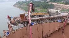 湘江杨梅洲大桥:连续浇筑四十多小时
