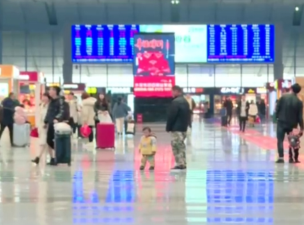 长沙火车南站返乡客流持续增多